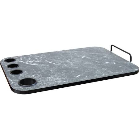 Black Marbleized Trolley Topper - 923201